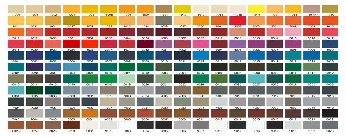 Цветные окна по каталогу RAL